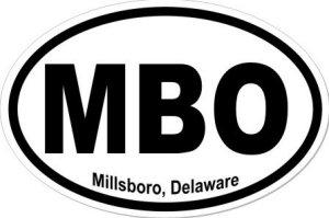 Millsboro Delaware - Sticker