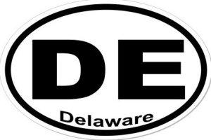 DE Delaware - Sticker