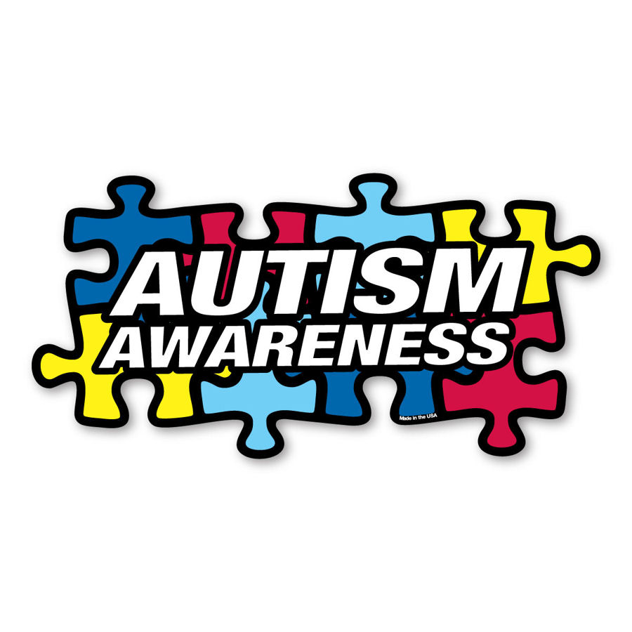 Autism Awareness Colored Puzzle Pieces Sticker