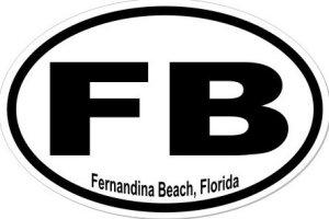 Fernandina Beach Florida - Sticker