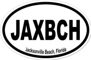 Jacksonville Beach Florida - Sticker