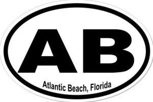 Atlantic Beach Florida - Sticker