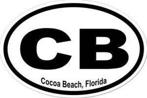 Cocoa Beach Florida - Sticker