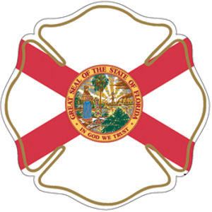 State Of Florida Maltese Cross Reflective Sticker At Sticker Shoppe