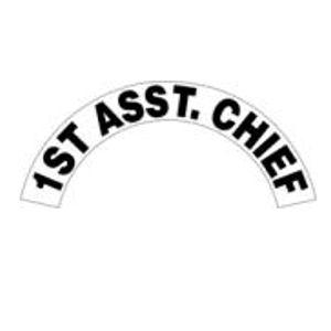Ass Chief Black Helmet Crescent Reflective Decal Sticker