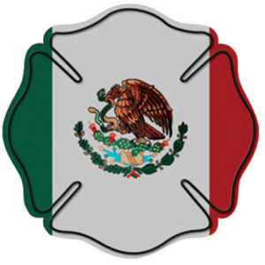 Mexican Flag Maltese Cross Reflective Sticker At Sticker Shoppe