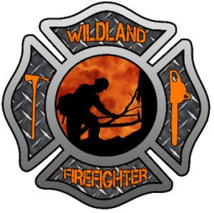 Wildland Firefighter Maltese Cross Reflective Sticker At Sticker