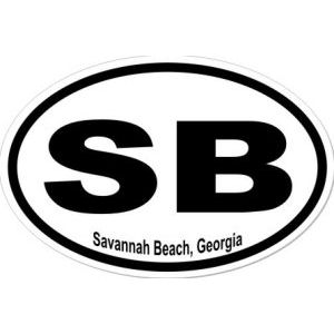 Savannah Beach Georgia - Sticker