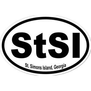 St. Simons Island Georgia  - Sticker