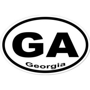 GA Georgia - Sticker