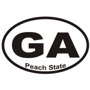 Peach State Georgia - Sticker