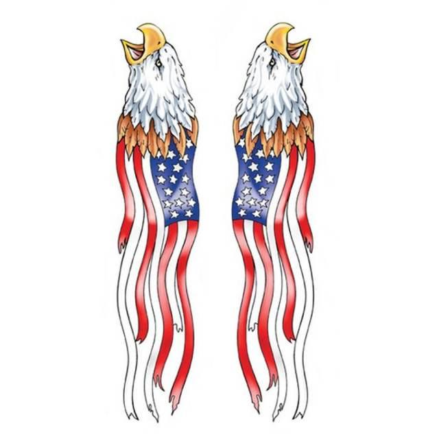FLAG EAGLES DECAL JA203