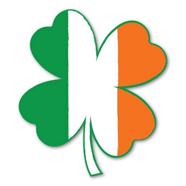 SHAMROCK CLOVER IRISH LEAF CAR FRIDGE MAGNET