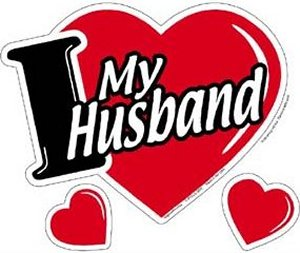 I Love My Husband Heart Magnet At Sticker Shoppe