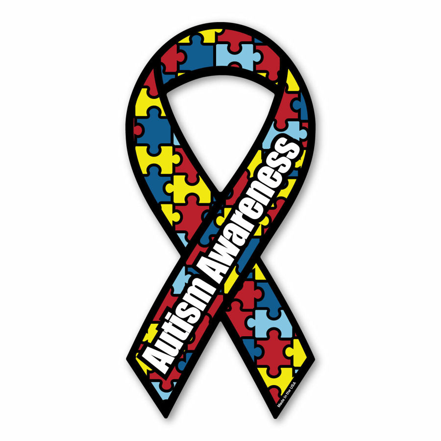 autism awareness ribbon coloring page