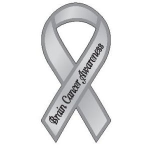Brain Cancer Awareness - Ribbon Magnet