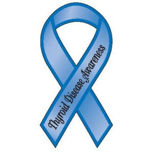 Thyroid Disease Awareness Ribbon Magnet At Sticker Shoppe