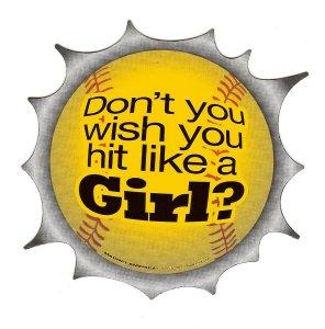 Hit Like A Girl Magnet