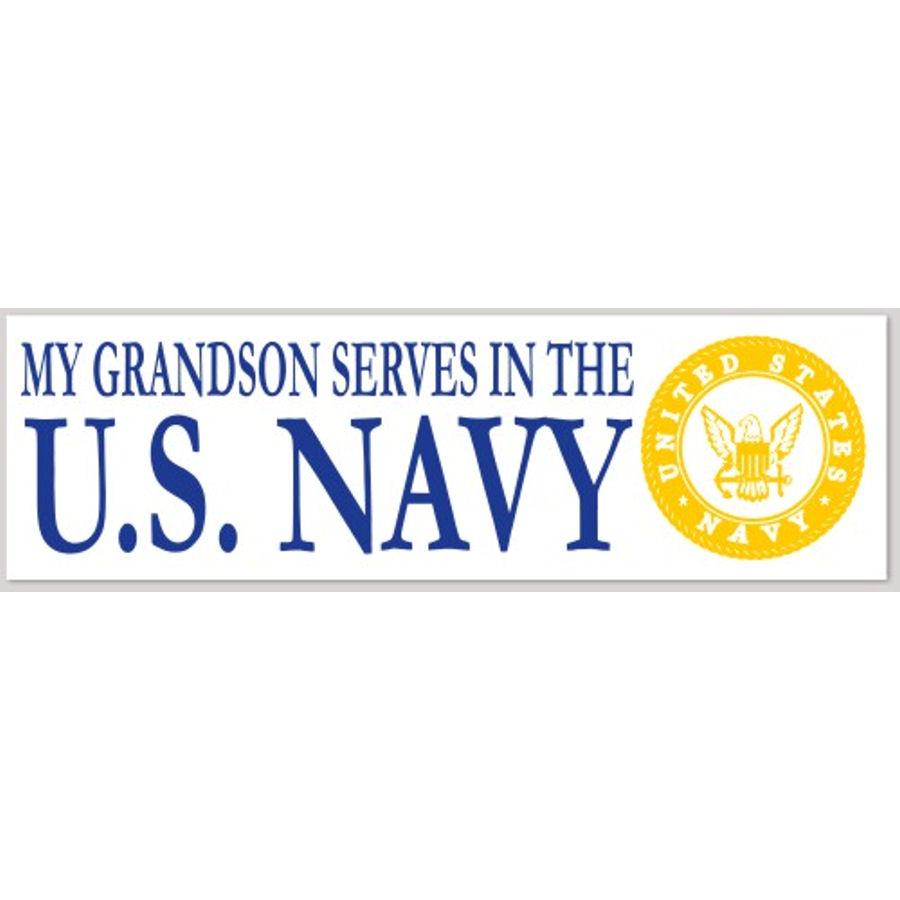 Grandson Serves Navy - Sticker