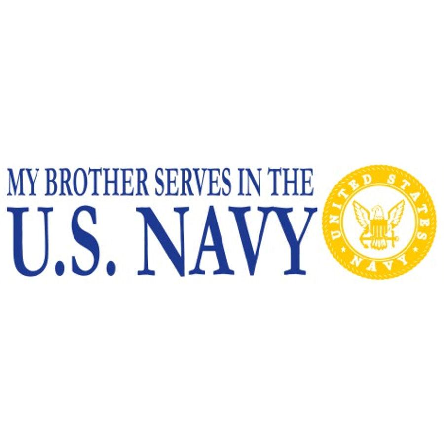 Brother  Serves Navy - Sticker