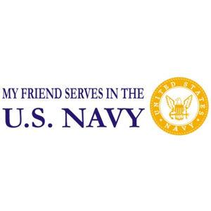 Friend Serves Navy - Sticker