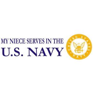 Niece  Serves Navy - Sticker