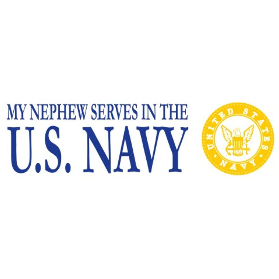Nephew Serves Navy - Sticker