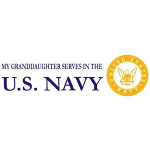 Granddaughter Serves Navy - Sticker
