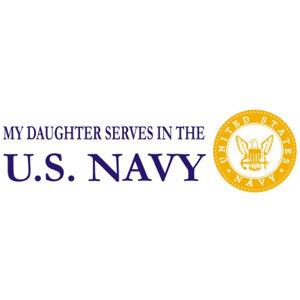 Daughter Serves Navy - Sticker