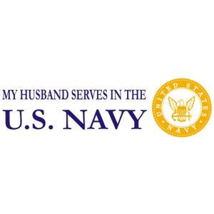 Husband Serves Navy - Sticker