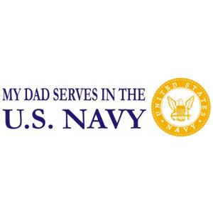 Dad Serves Navy - Sticker