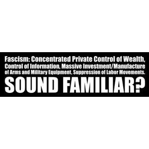 Definition Of Fascism - Bumper Sticker