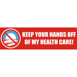 Hands Off Health Care - Bumper Sticker
