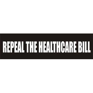 Repeal The Healthcare Bill - Bumper Sticker
