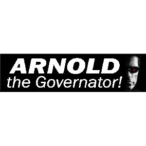 Arnold The Governator - Sticker