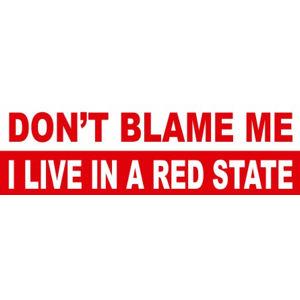 I Live In A Red State - Sticker