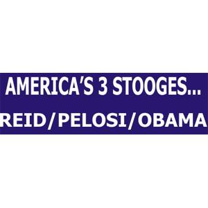 America's 3 Stooges - Bumper Sticker
