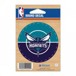 promo code 9be86 fa4df Charlotte Hornets - 3x3 Round Vinyl Sticker