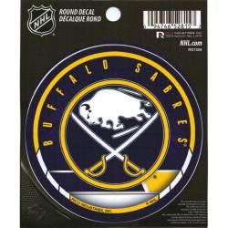 Buffalo City Sabre Sport Hockey Logo Die-Cut Sticker Decal Label 12 x 12