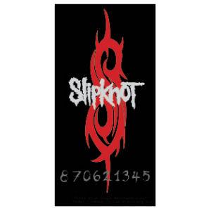 slipknot logo with red s vinyl sticker at sticker shoppe