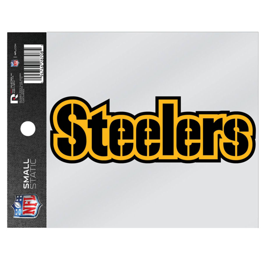 5004df18d Pittsburgh Steelers Script Logo - Static Cling at Sticker Shoppe