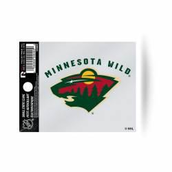 Minnesota Wild Script Logo - Static Cling 32716a3d37d8