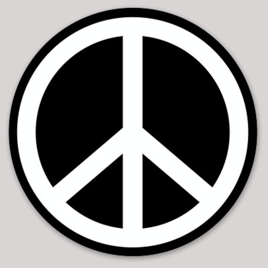 Black Peace Sign - Sticker