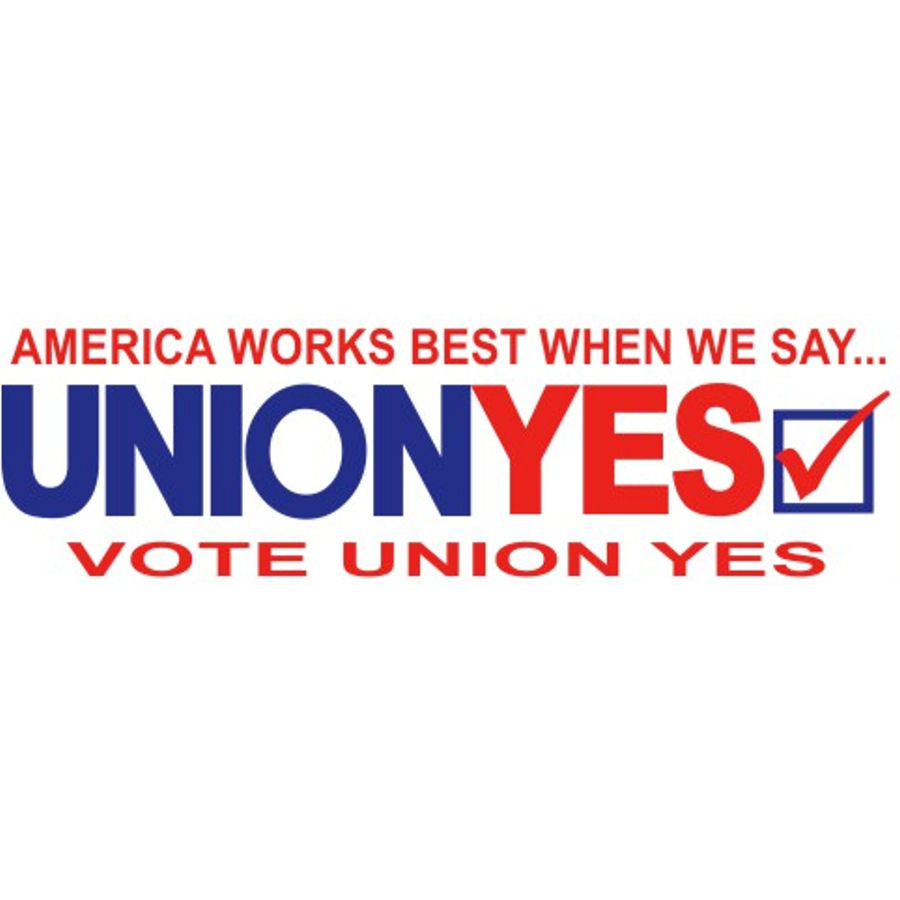 Union Yes - Bumper Sticker