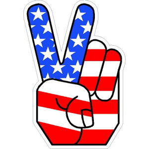 Peace Sign Hand - Sticker