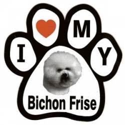 BICHON-PUPMOBILE MAGNET