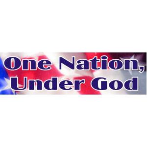 One Nation Under God - Bumper Sticker