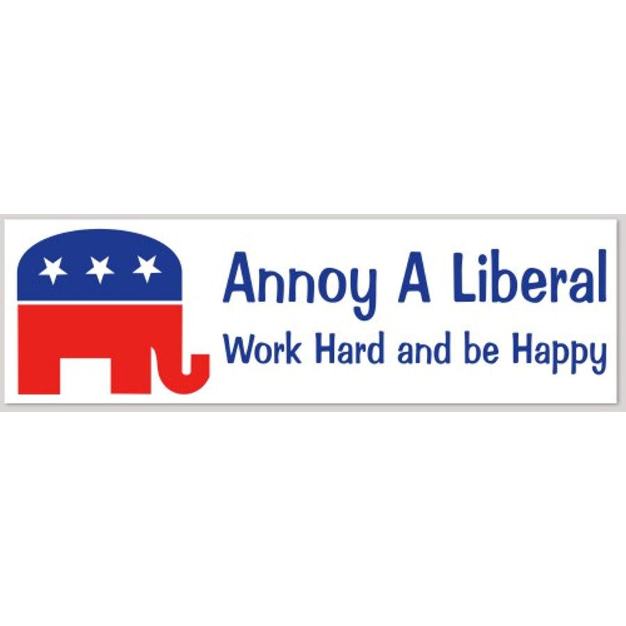 Annoy A Liberal - Bumper Sticker