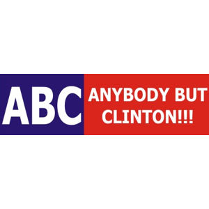 Anybody But Clinton - Bumper Sticker
