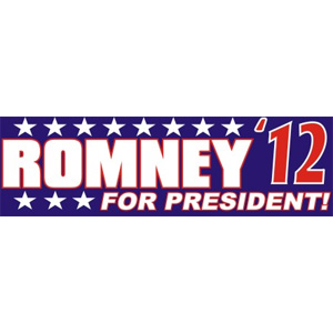 Romney For President - Bumper Sticker